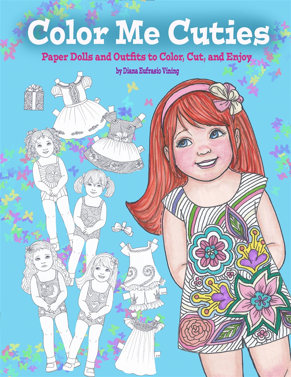 Color Me Cuties Paper Doll Coloring Book