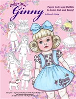 """Color Me Ginny"" Paper Doll Coloring Book"