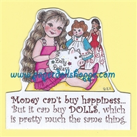 """Dolly Dollars"" Magnet"