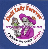 """Doll Lady"" Magnet"