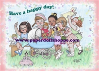"""Have A Happy Day!"" Notecards"