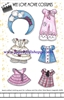 """Wee Love Movie Costumes"" Wee Beans Magnetic Clothing Pack"