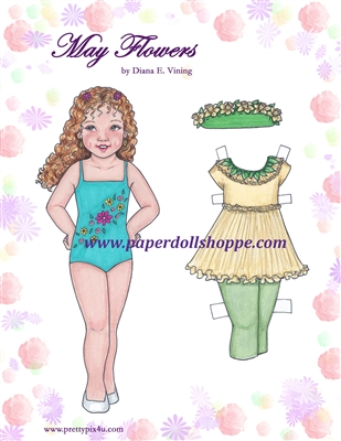 """May Flowers"" Paper Doll"
