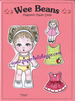 """Tiny"" Wee Bean Magnetic Doll Set"