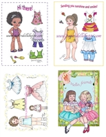 """Paper Doll Variety Pack"" Notecards"