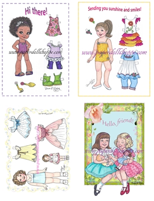 """Paper Doll Variety Pack"" Notecards (OUT OF STOCK)"