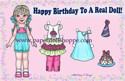 """Happy Birthday"" Well Wisher Card (L)"