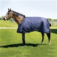 Abrazo Turn Out Blanket, Navy/Grey