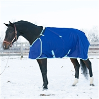 Prize 1200D Heavyweight (300g ins) Turnout Blanket, Navy/Lt Blue