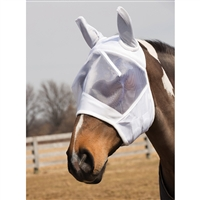 Fly Mask, White/White.  May Special: Free fly mask with fly sheet purchase