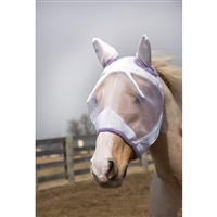 Fly Mask, White/Lavender.  May Special: Free fly mask with fly sheet purchase