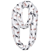 Infinity Scarves, Voile Polyester, Medium Weight