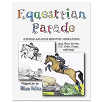 """Equestrian Parade"" by Ellen Sallas; Coloring book"