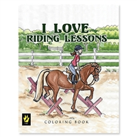 """I Love Riding Lessons"" by Ellen Sallas; Coloring book"