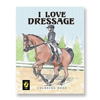 """I Love Dressage"" by Ellen Sallas; Coloring book"