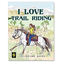 """I Love Trail Riding"" by Ellen Sallas; Coloring book"