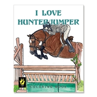 """I Love Hunter/Jumper"" by Ellen Sallas; Coloring book"