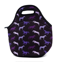Lunch Tote, Tek Trek, Shades of Horses, Purple