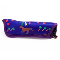 Neoprene Reader Eyeglass Cases; Horses, Apples & Carrots