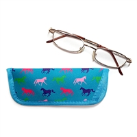 Reader Eyeglass Cases, assorted Horses