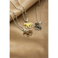 Horse Necklace, Grey