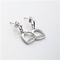 Stirrup Earrings, Cubic Zirconia