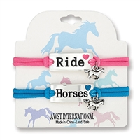"Set of 2 Bracelets, ""Ride"" and ""Horses"""