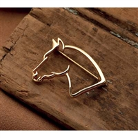 Pin, Horse Head, Gold-Toned