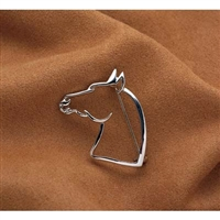 Pin, Horse Head, Silver-Toned