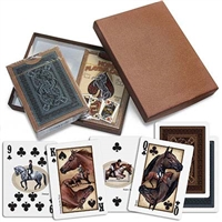 Horse Playing Cards, 2 Packs in Gift Box