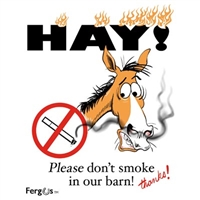 "Barn Sign, 8.5"" x 11"", Hay! Don't Smoke"