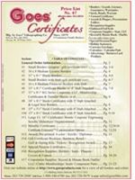 Certificate Price List 47