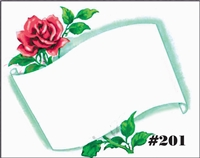 Falls 201 Enclosure Card - Red Rose with Scroll
