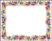 Falls 609 Enclosure Card - Red and Purple Flowers on Light Pink Background
