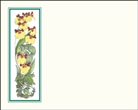 Falls 627 Enclosure Card - Yellow Flowers with a Green Border