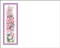 Falls 630 Enclosure Card - Assorted Flowers with a Purple Border