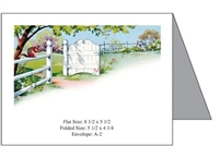 Fence & Gate with Flowers Baronial Card