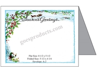 Seasons Greetings with Sleigh & Holly Baronial Card