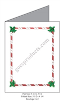Candy Cane and Holly Baronial Card