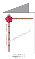 Ribbon and Holly Border Baronial Card