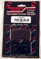 7532.95.09.92  Performance Friction Carbon Metallic Racing High Performance Brake Pad Set