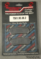 7581 Performance Friction Carbon Metallic Racing High Performance Brake Pad Set