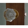 Crystal Clear Knob Bright Brass Base