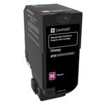 Lexmark CS725 High Yield 12K Yield Magenta Toner Return Program