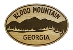 Blood Mountain Wooden Magnet