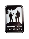 Mountain Crossings Car Magnet