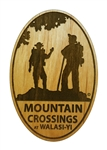 Mountain Crossings Wooden Magnet