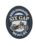 Six Gap Motorcycle Ride Patch