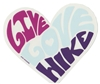 Live Love Hike Sticker