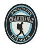 Blue on Blue Appalachian Trail Hiker Sticker